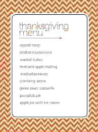 6 thanksgiving menu template procedure template sle