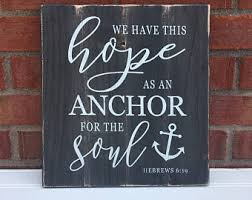 Chalkboard Love And Hope Anchors - anchor bible verse etsy