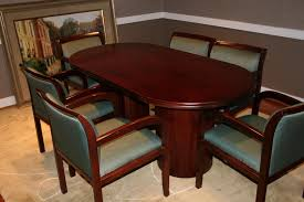 Hon Conference Table Conference Table With Six Chairs In Conference Room Stock Photo