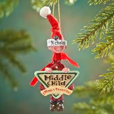 moms favorite middle child ornament christmas miles kimball