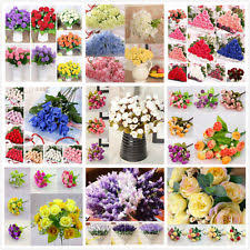 Fake Flowers For Home Decor Silk Hydrangea Home U0026 Garden Ebay