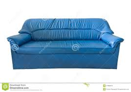 the old blue leather sofa stock image image of relax 21806075