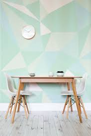 25 best mint green kitchen ideas on pinterest mint kitchen mint geometric wallpaper mural