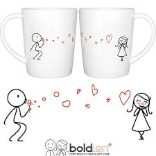 his hers mugs boldloft from my heart to yours his and hers matching