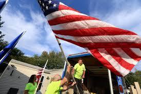 Pvc Pipe Flag Pole Flag Waving Volunteers Support Troops First Responders News