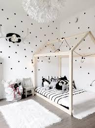Black And White Decor by Nursery Decor Scandinavian Nursery House Bed Polka Dot Wall