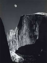 ansel adams yosemite and the range of light poster moon and half dome yosemite national park california ansel adams