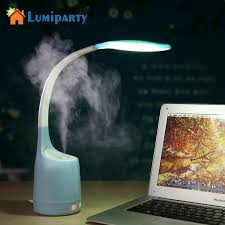humidificateur de bureau lumiparty portable led le de bureau humidificateur d air 160 ml