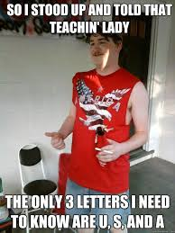 Hick Meme - 3 letters redneck randal know your meme