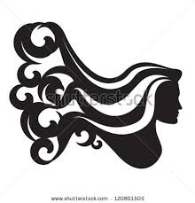 curly hair silhouette stock images royalty free images u0026 vectors
