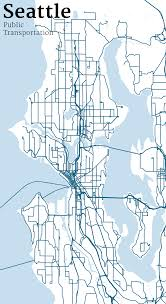 Seattle Bus Route Map by Mapping Seattle Streets Jim Vallandingham