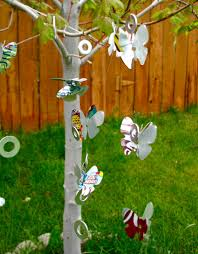recycled wind chimes made by marzipan