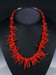 coral necklace red images Native american jewelry red branch coral necklace by navajo artist jpg