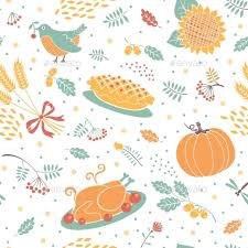 thanksgiving pattern by baksiabat graphicriver