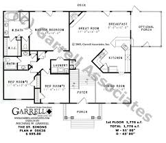 house plans with kitchen in front st simons house plan active house plans
