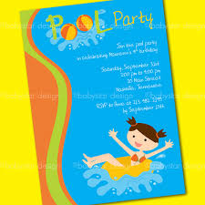 7 best images of pool party invitation templates word birthday