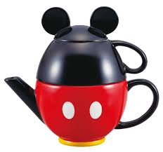 amazon com disney mickey mouse tea set pot and mug san2171