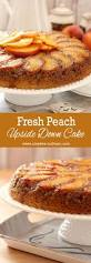 fresh peach and bourbon upside down cake creative culinary