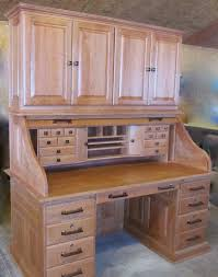 tom kies woodworks cherry rolltop desk with hutch
