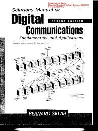 solution manual digital communications fundamentals bernard sklar pdf