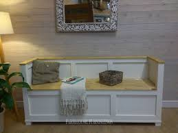 Shabby Chic Bench 6ft Solid Pine Monks Bench Pine Monks Benches Painted Pine Monks