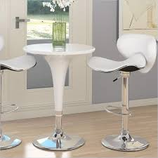 sonax corliving 3 piece height bar table pub set in white white