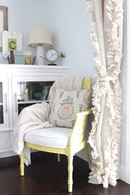 Gray Burlap Curtains Remodelaholic How To Sew Ruffled Burlap Curtains