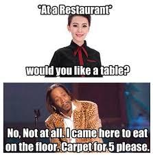 Funny Waitress Memes - haha carpet for 5 please xd my favs random stuff