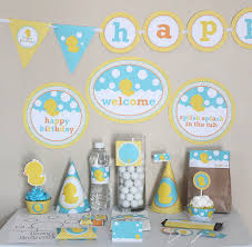 Yellow Duck Baby Shower Decorations Rubber Ducky Baby Shower Decorations Neutral Baby Shower