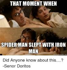Meme Generator Spiderman - that moment when spider man slept with iron man memegenerator net
