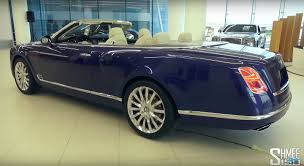 chrome bentley convertible bentley grand convertible by mulliner surfaces in dubai showroom