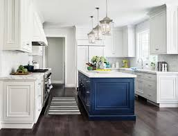 white kitchen cabinets with blue island navy blue kitchen island in white kitchen transitional
