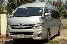 toyota hiace vip ko v i p van minibus tours in udon thani udon news com