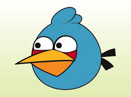 blue angry bird gaming cartoon vector free download