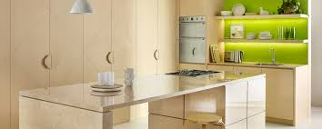rear benchtop and cupboards in u0027dansk maple u0027 with isla nd benchtop