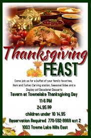 thanksgiving feast tavern at towne lake