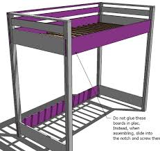 Wood Bunk Bed Plans by Ana White How To Build A Loft Bed Diy Projects
