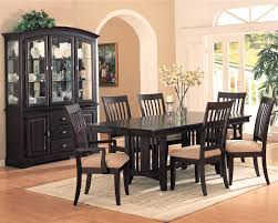 9pc formal dining table chairs set in brown cherry