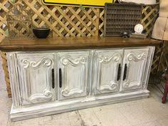 Antique White Buffet Server by Antique White French Provincial Buffet With Wood Plank Top Seitz