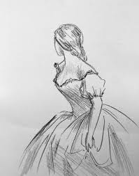 drawn women dress drawing pencil and in color drawn women dress