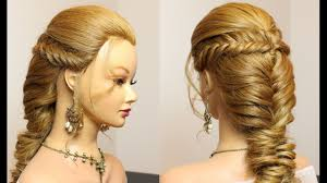 prom party hairstyles for long hair fishtail braids makeup videos
