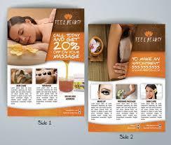 free massage flyer templates massage chiropractic brochure