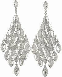 chandelier earrings nera chandelier earrings in silver kendra jewelry