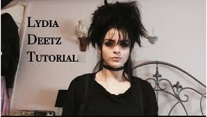 lydia deetz makeup and hair tutorial youtube
