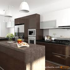 Wood Veneer For Kitchen Cabinets by Op15 Wv03 Modern Wood Veneer Kitchen Cabinet