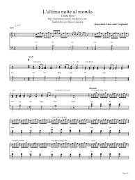 tappeto di fragole testo e accordi tiziano ferro lultima notte al mondo spartito per pianoforte3