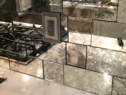 Mirror Tiles Backsplash by Antique Mirror Tile Backsplash Home Design Ideas