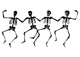 easy halloween skeleton coloring sheet for preschool skeleton