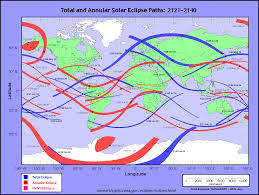 North American Time Zones Map by Nasa Solar Eclipse Page