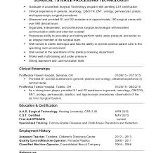 surgical tech resume objective 100 surgical tech resume sample 13